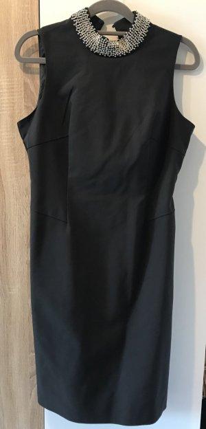 schwarzes Kleid Orsay