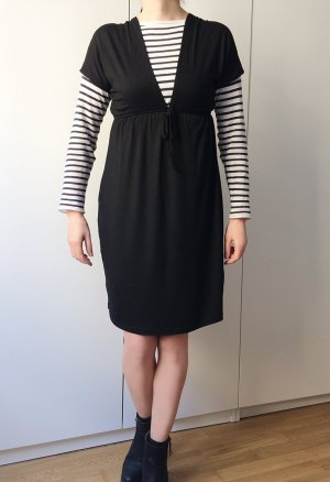 Schwarzes Kleid, perfect for day and night, hohe Taille / one size