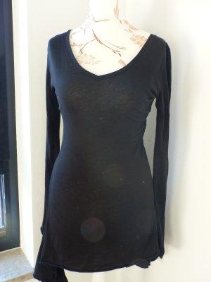 schwarzes Kleid / Shirtdress / Tunika langarm / Marke Styled in Italy