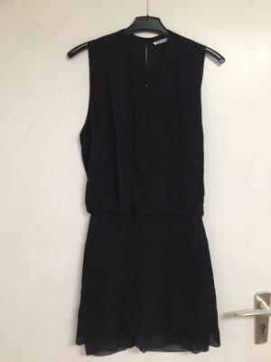 Acne Vestido strapless negro