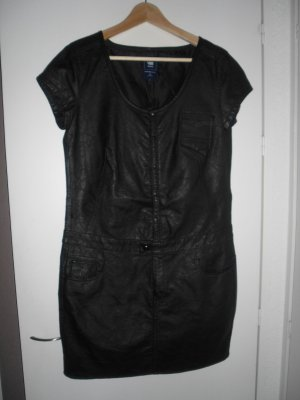 schwarzes Kleid von G-Star im Lederlook