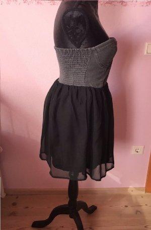 Review Vestido bustier negro-gris oscuro