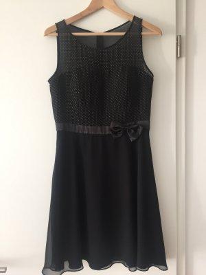 Schwarzes Kleid von Vera Mont, Chiffon, Gr. 36