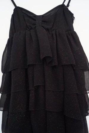 Schwarzes Kleid von Zara mit Goldpartikeln, S