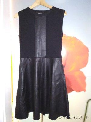 Les Benjamins Leren jurk zwart
