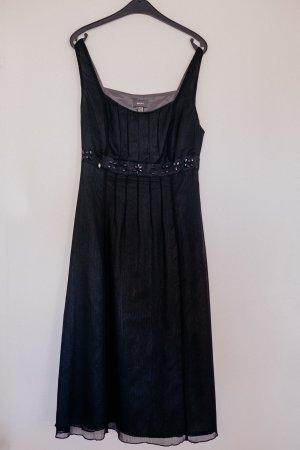 Schwarzes, knielanges MEXX Kleid mit schönen Details Gr. M / 38