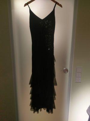 schwarzes knöchellanges Kleid