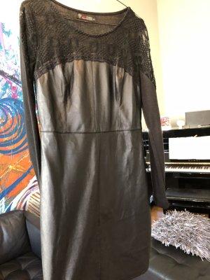 101 Idees Leather Dress black