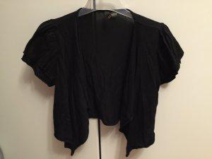 schwarzes Kurzarm Feinstrick-Jäckchen von H&M