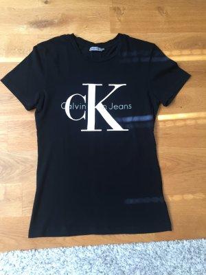 Schwarzes Kurzarmshirt Calvin Klein Jeans
