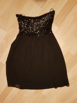 Schwarzes kurzed Abendkleid