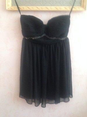 Schwarzes kurzes Abschlussballkleid/ Bandeau-Kleid NEU 38