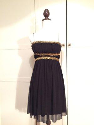 Schwarzes kurzes Cocktailkleid Größe M Kleid Abendkleid Palliette
