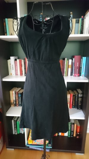 Schwarzes kurzes Kleid aus Baumwolle