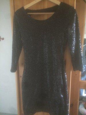 Schwarzes kurzes Kleid mit Pallietten