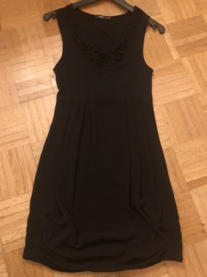 Zero vestido de globo negro Viscosa