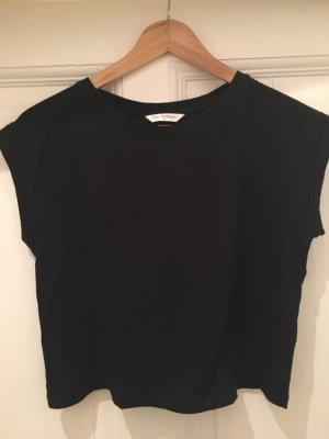 Schwarzes kurzes Shirt von Miss Selfridge / Größe 36