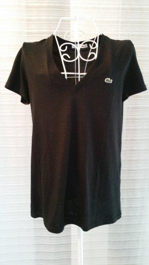 Schwarzes Lacoste Shirt