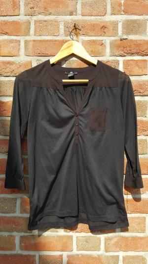 Schwarzes, langärmeliges  Poloshirt