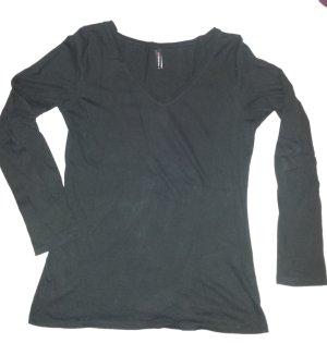 schwarzes Langarm-Shirt, Longsleeve von Fishbone, Gr. L