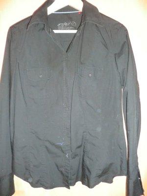 Schwarzes Langarmhemd (Esprit)