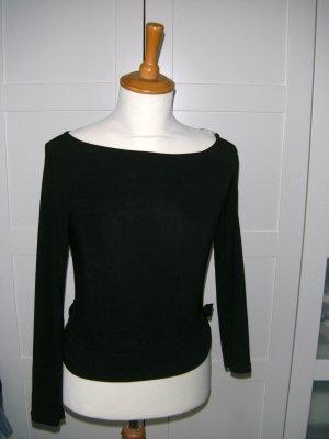 schwarzes Langarmshirt mit Cut-out, Melrose, Gr. XS/34