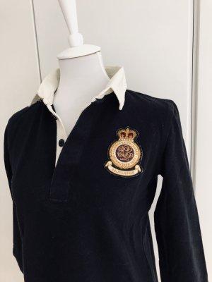 Schwarzes Langarmshirt mit Emblem von RALPH LAUREN