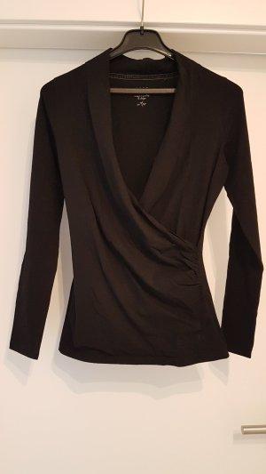 Schwarzes Langarmshirt von Zero - Größe 36