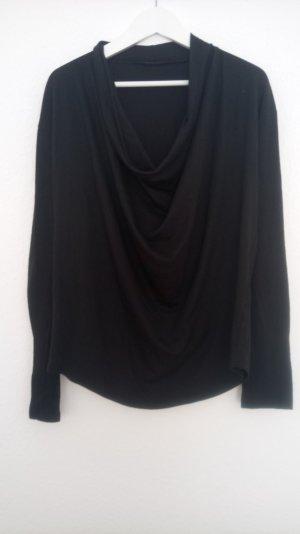 schwarzes Langarmshirt Wasserfall von Sisley