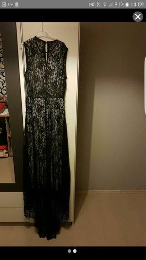 Schwarzes langes Abendkleid