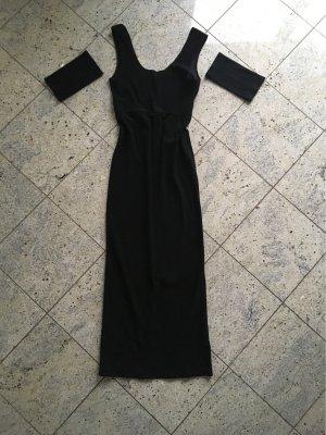 Schwarzes langes Abendkleid Gr. 38