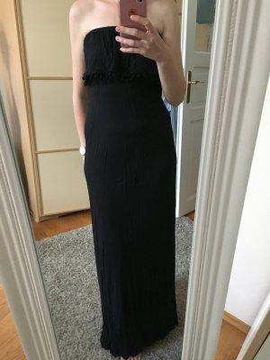 Schwarzes langes Jersey Kleid