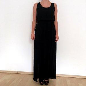 Schwarzes langes Kleid neu