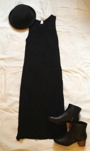 Schwarzes langes Kleid Schlitze