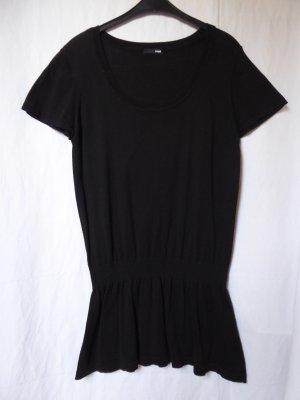 Schwarzes, langes Kurzarm-Oberteil von H&M
