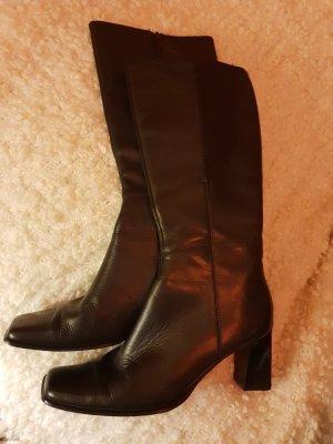 Schwarzes Leder Stiefel  von Mexx