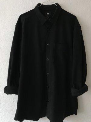 H&M Leren shirt zwart