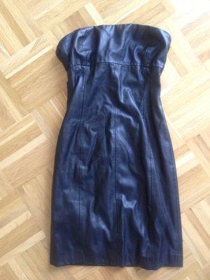 Schwarzes Lederimitat Kleid von Zara