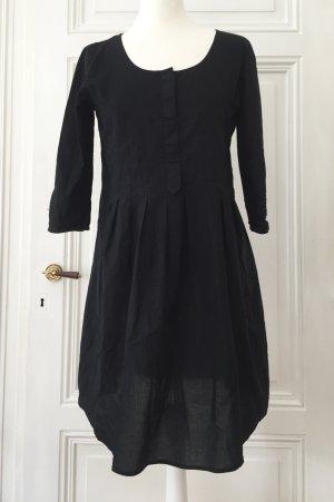 Schwarzes, leicht transparentes Blusenkleid / Longbluse mit Dreiviertelärmeln und leichtem Babydoll Schnitt NEU von Vero Moda