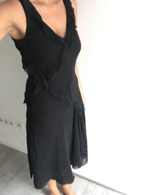 Schwarzes leichtes Kleid / Midi / Sommerkleid Zero
