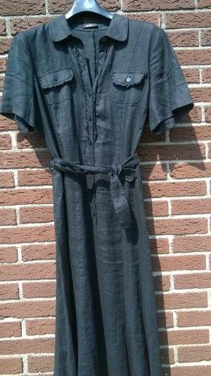 Schwarzes Leinenkleid Größe L