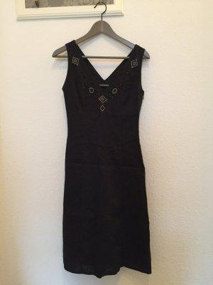 Schwarzes Leinenkleid von Betty Barclay 100% Leinen