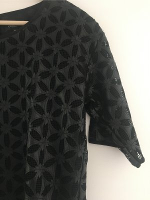 Concept Reserved Leather Blouse black