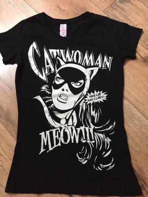 Schwarzes Logoshirt Catwoman