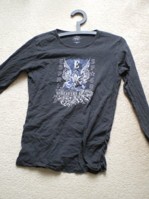 Schwarzes Long Sleeve Shirt mit Print