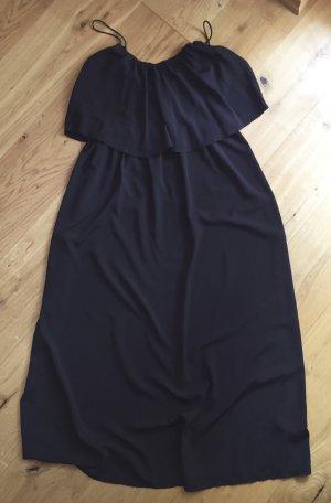 Schwarzes Longkleid mit Volant von Asos NEU mit Etikett