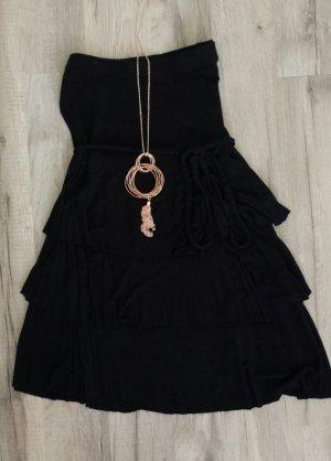 schwarzes Longshirt Minikleid