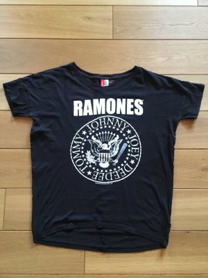 Schwarzes Longshirt mit Print