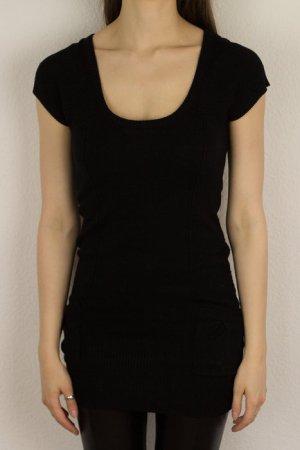 Schwarzes Longshirt mit Wollanteil von IX-O