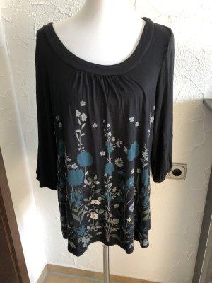 b.p.c. Bonprix Collection Lang shirt zwart-turkoois